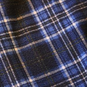 jcpenney Pajamas - Boys Blue Plaid PJ Lounge Pants x2 Large 14-16